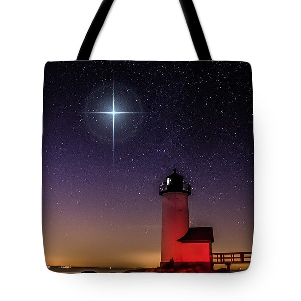 Lighthouse Star To Wish On Tote Bag by Jeff Folger