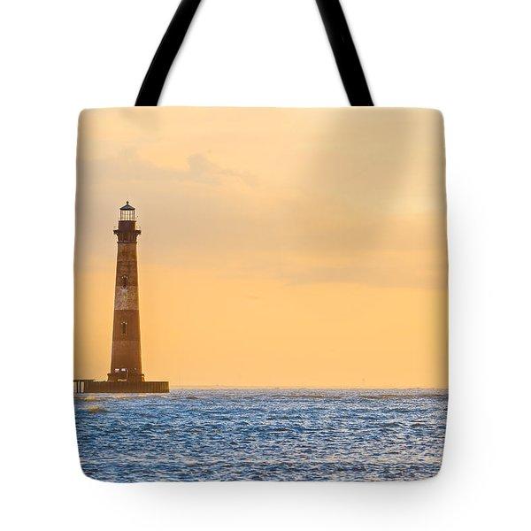 Lighthouse Sunrise Tote Bag