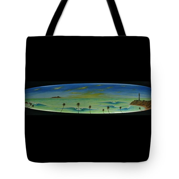 Lighthouse Surfers Cove Tote Bag
