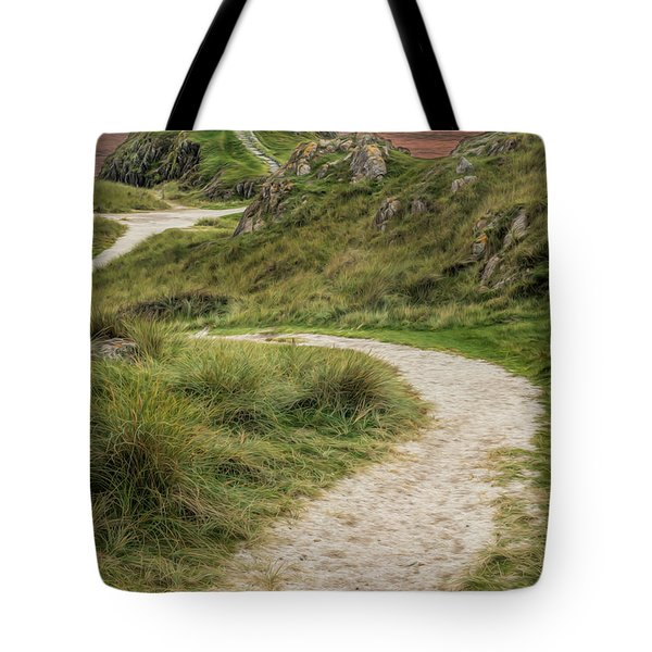 Lighthouse Trail Tote Bag by Adrian Evans