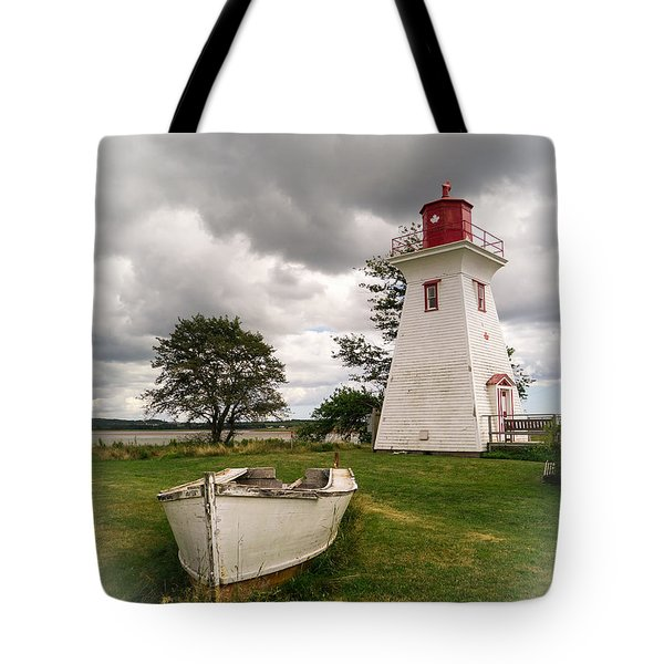 Lighthouse Victoria By The Sea Pei Tote Bag by Edward Fielding