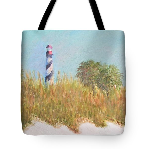 Lighthouse View From St. Augustine Beach Tote Bag