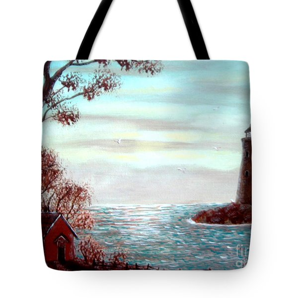 Lighthousekeepers Home Tote Bag by Barbara Griffin