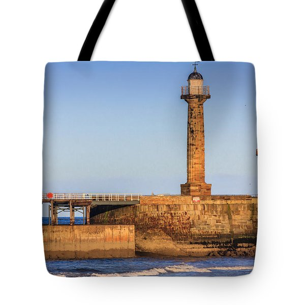 Lighthouses On The Piers Tote Bag