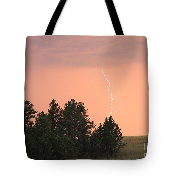Lighting Strikes In Custer State Park Tote Bag