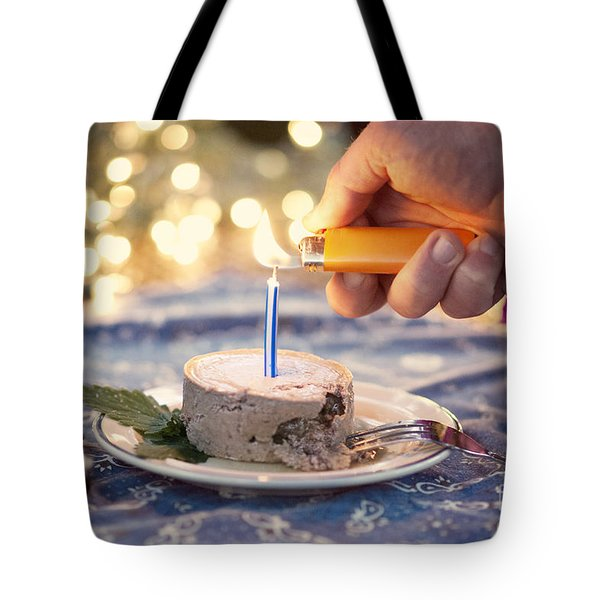 Lighting The Birthday Candle Tote Bag by Juli Scalzi