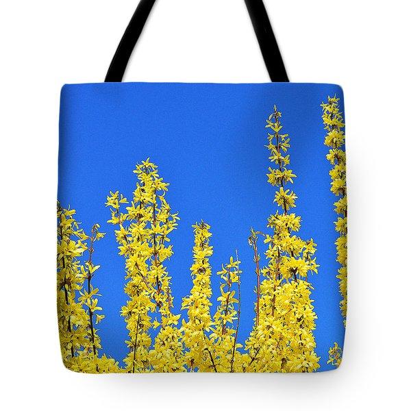 Lighting The Spring Sky Tote Bag