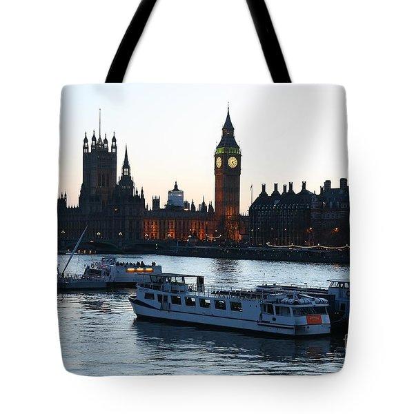 Lighting Up Time On The Thames Tote Bag