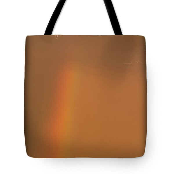 Lightning And Rainbow Tote Bag