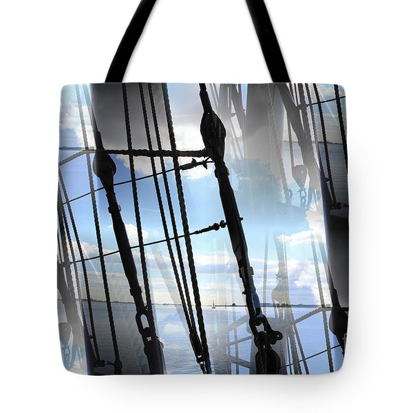 Lightning And Shadows Tote Bag