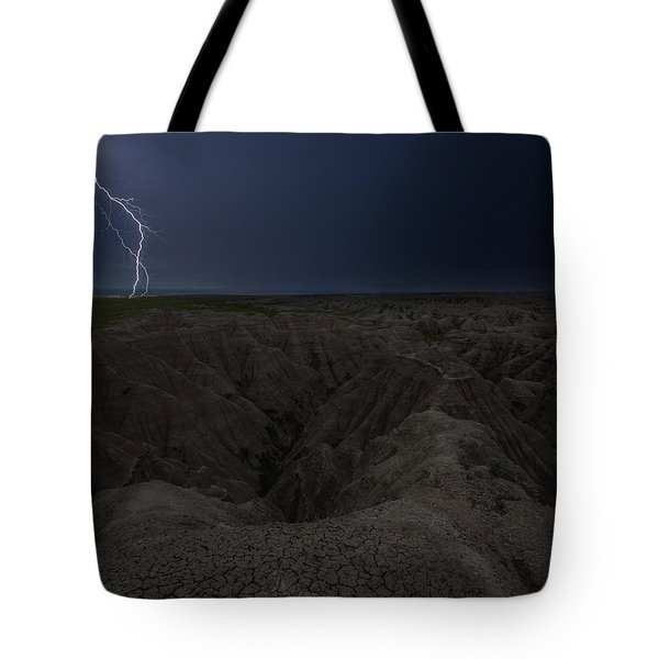 Lightning Crashes Tote Bag