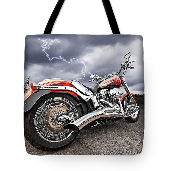 Lightning Fast - Screamin' Eagle Harley Tote Bag