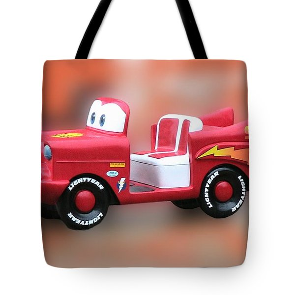 Lightning Mcqueen Tote Bag by Thomas Woolworth
