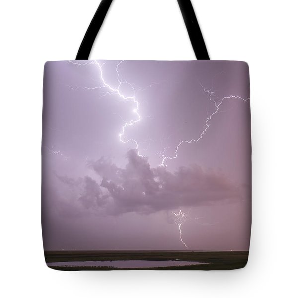 Lightning Over Cheyenne Bottoms Tote Bag