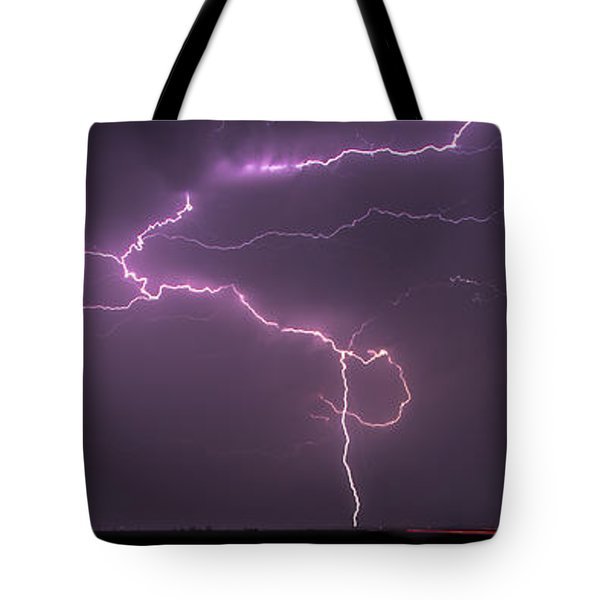 Tote Bag featuring the photograph Lightning by Rob Graham