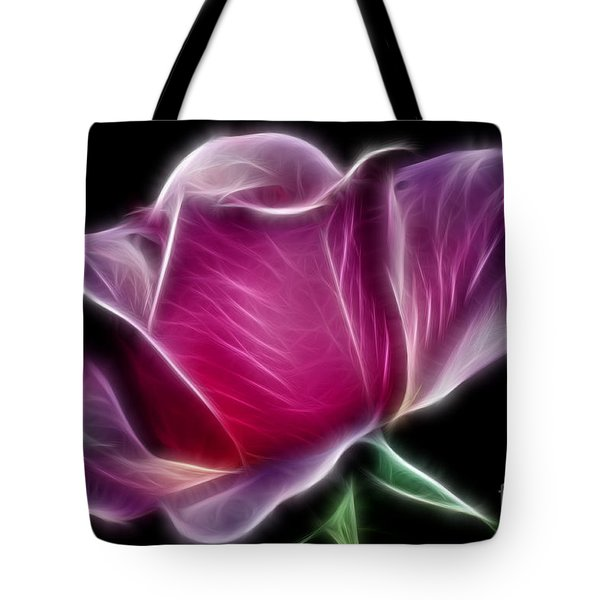 Lightning Rose Tote Bag by Kaye Menner