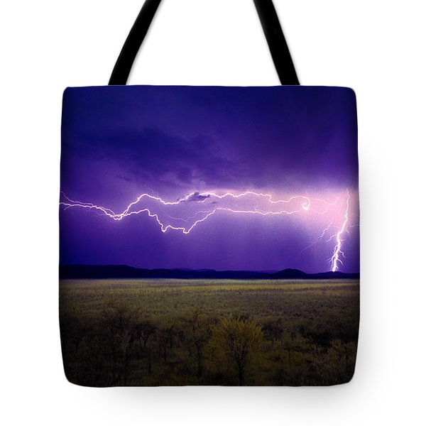 Lightning Serengeti Tote Bag