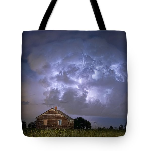 Lightning Thunderstorm Busting Out Tote Bag by James BO  Insogna