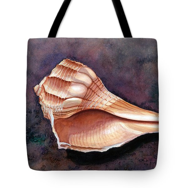 Lightning Whelk Tote Bag by Barbara Jewell