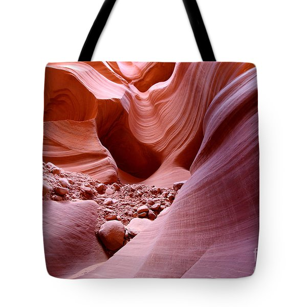 Lights And Rocks In The Canyon Tote Bag