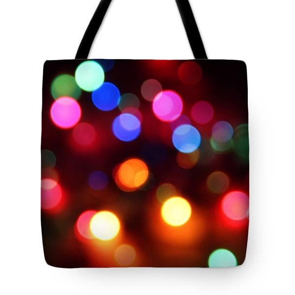 Tote Bag featuring the photograph Lights by Elizabeth Budd