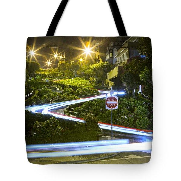 Lights On Lombard Tote Bag