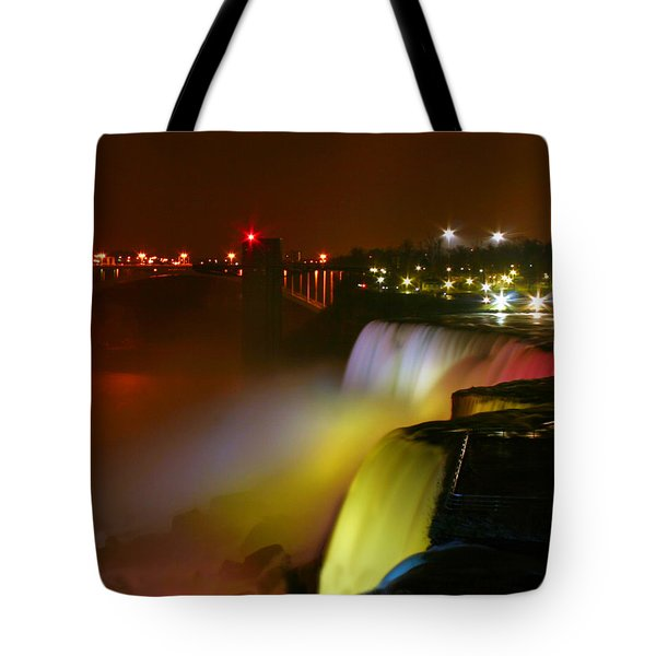 Lights On Niagara Falls Tote Bag