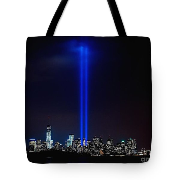 Lights Over Nyc Tote Bag by Nick Zelinsky