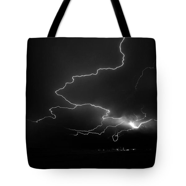 Lights Over The Gulf Tote Bag by David Lee Thompson