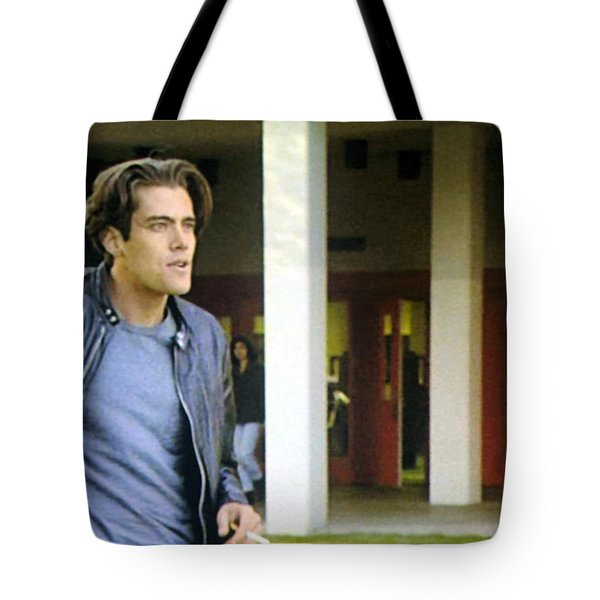 Tote Bag featuring the painting Lights Start Changing by Luis Ludzska