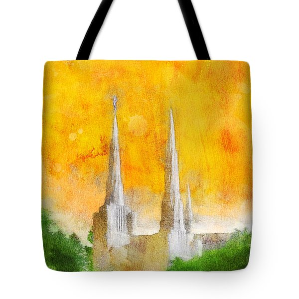 Tote Bag featuring the painting Like A Fire Is Burning by Greg Collins