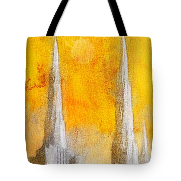 Tote Bag featuring the painting Like A Fire Is Burning - Panoramic by Greg Collins