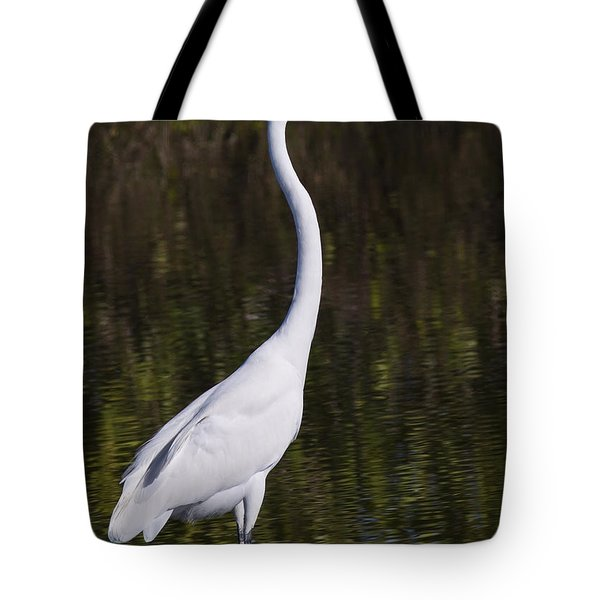 Like A Great Egret Monument Tote Bag by John M Bailey