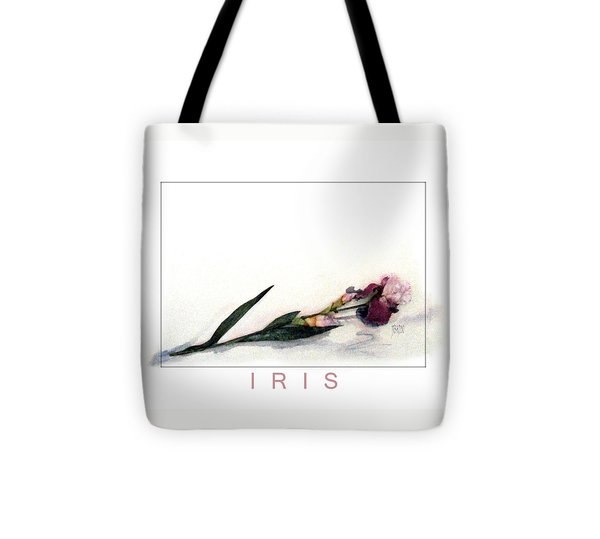 Like A Watercolor Iris Tote Bag by J R Baldini Master Photographer