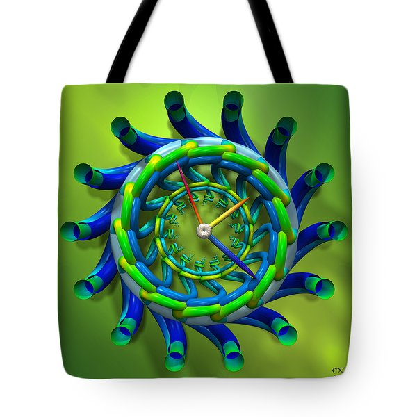 Tote Bag featuring the digital art Like Clockwork by Manny Lorenzo