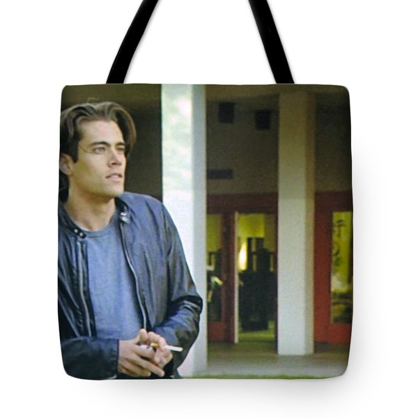 Tote Bag featuring the painting Like The Night When My Girl Went Away by Luis Ludzska