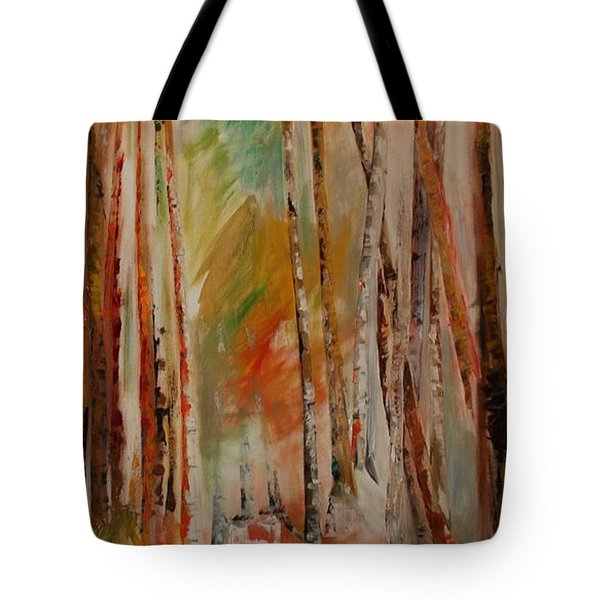 Tote Bag featuring the painting Like The Trees Always Looking Up by PainterArtist FIN
