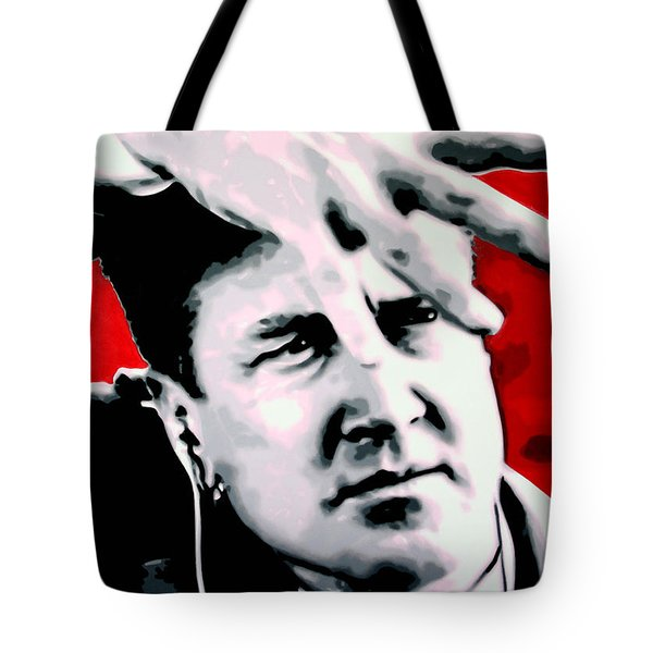Tote Bag featuring the painting Lil Shes My Mothers Sisters Girl by Luis Ludzska