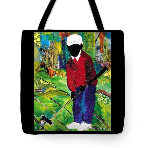 Lil Tiger Tote Bag by Everett Spruill
