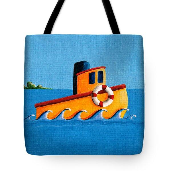 Lil Tugboat Tote Bag