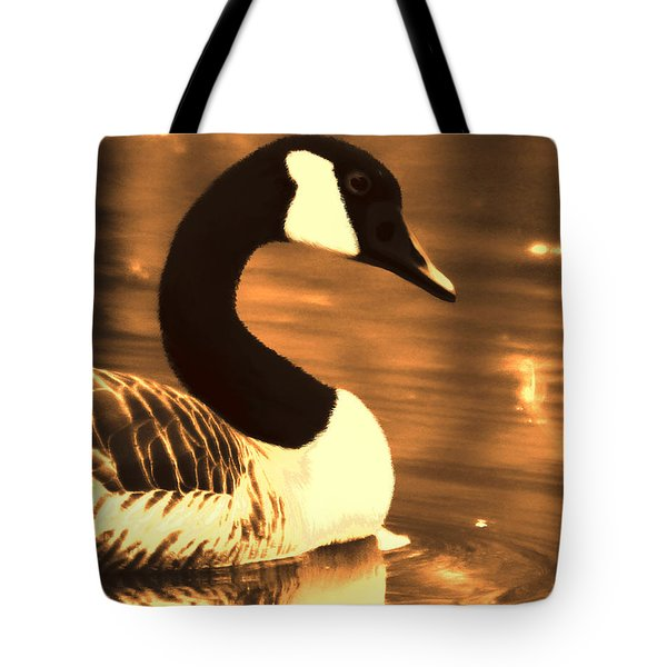 Lila Goose The Pond Queen Sepia Tote Bag