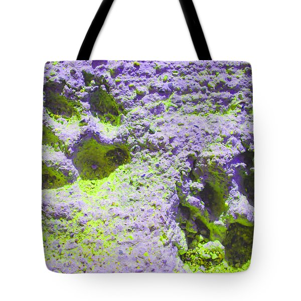 Lilac And Green Pawprints Tote Bag