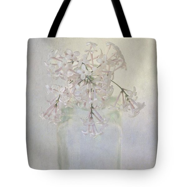 Tote Bag featuring the photograph Lilac Flower by Annie Snel