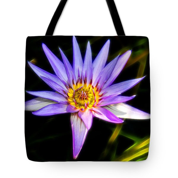 Lilac Lily Tote Bag by Mariola Bitner