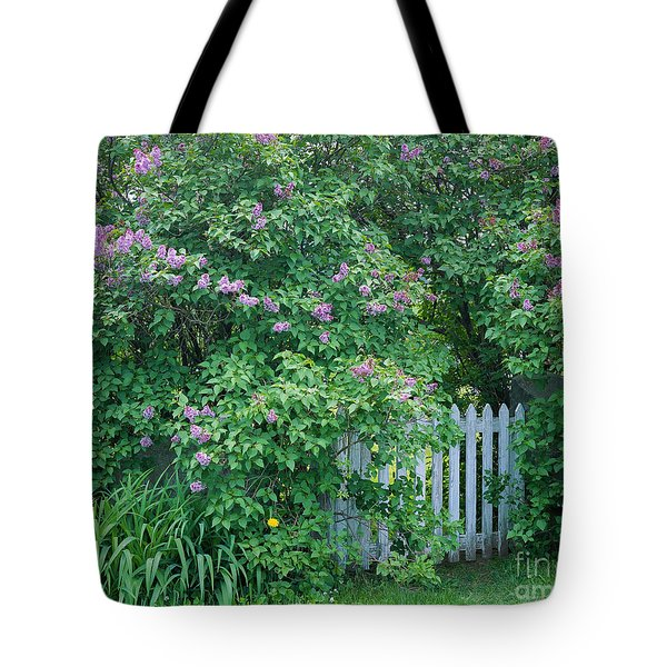 Tote Bag featuring the photograph Lilac Season by Alan L Graham