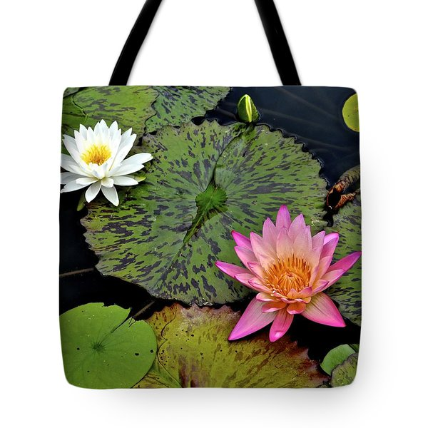 Lilies And Pads Tote Bag