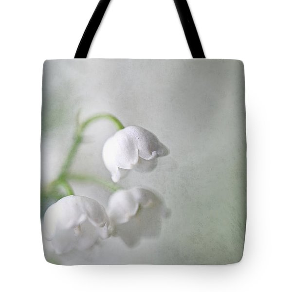 Lilies Of The Valley Tote Bag by Annie Snel
