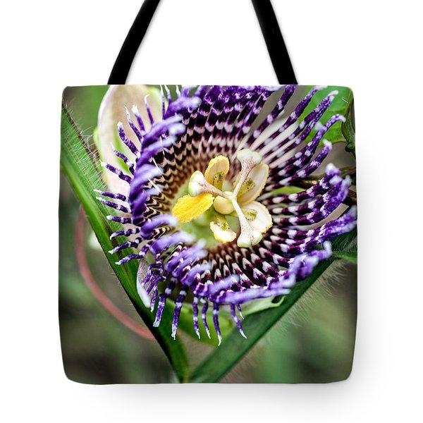Tote Bag featuring the photograph Lilikoi Flower by Dan McManus