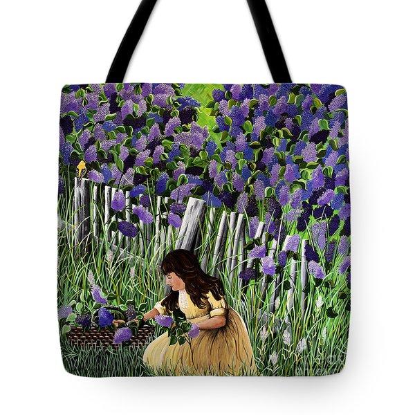 Lillian's Lilacs Tote Bag