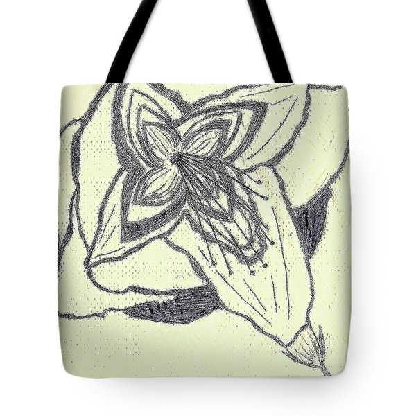 Lilly Artistic Doodling Drawing Tote Bag by Joseph Baril
